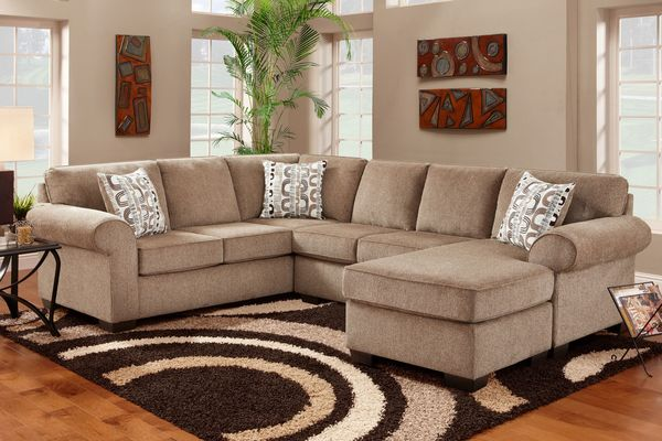 Brown And Beige Living Room | Baci Living Room